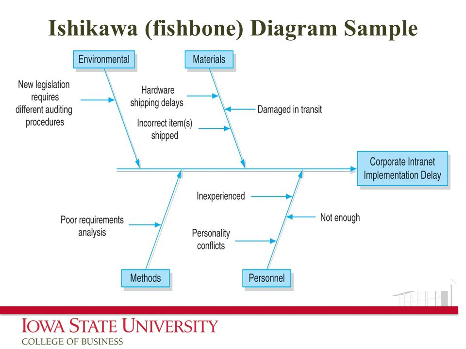 Ishikawa (fishbone) Diagram Sample