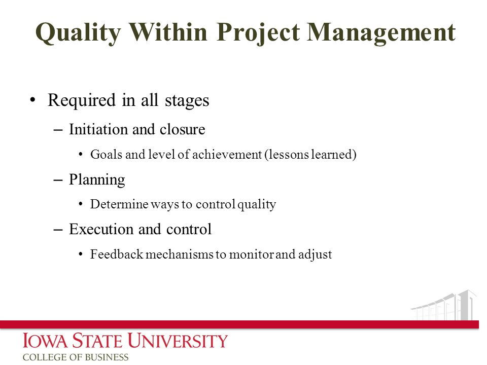 Quality Within Project Management