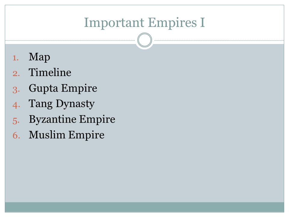 Important Empires I Map Timeline Gupta Empire Tang Dynasty