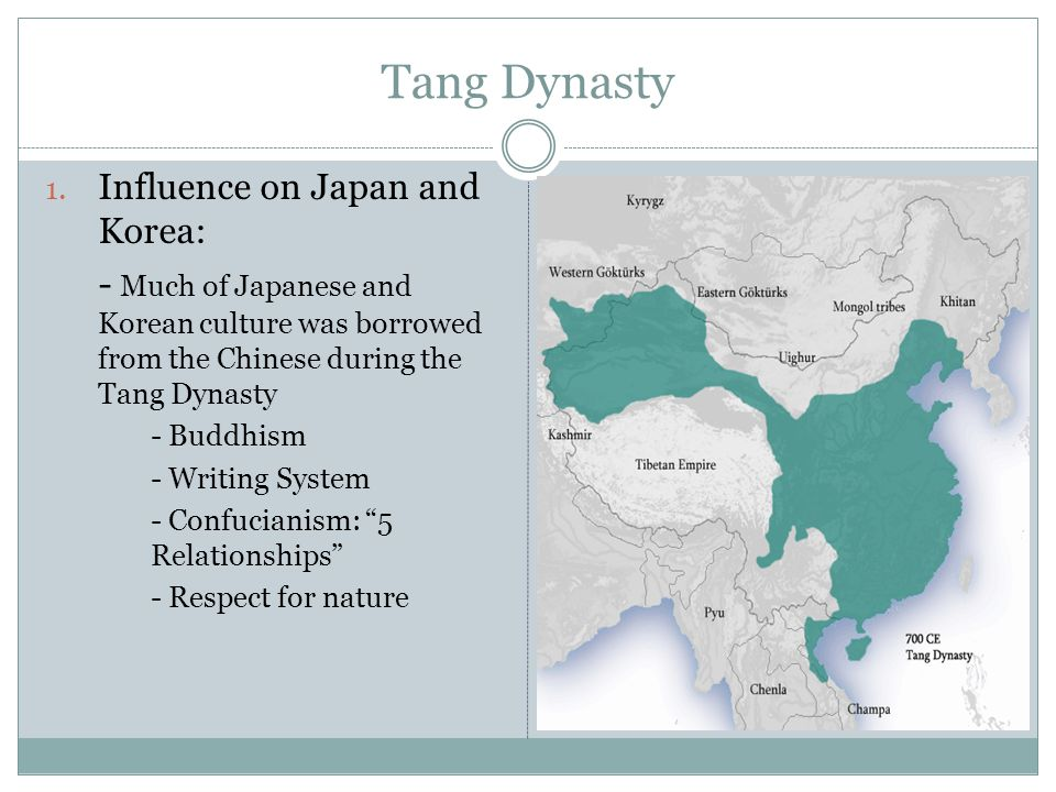 Tang Dynasty Influence on Japan and Korea: