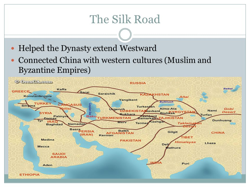 The Silk Road Helped the Dynasty extend Westward