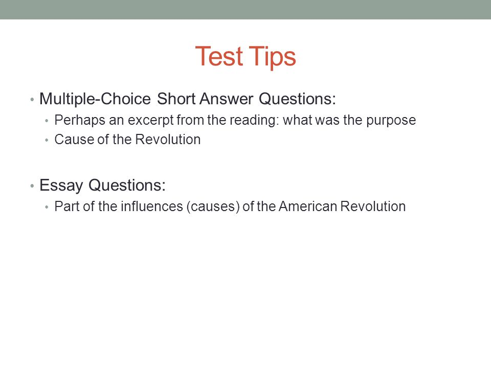 apush review thomas paine s common sense ppt  test tips multiple choice short answer questions essay questions