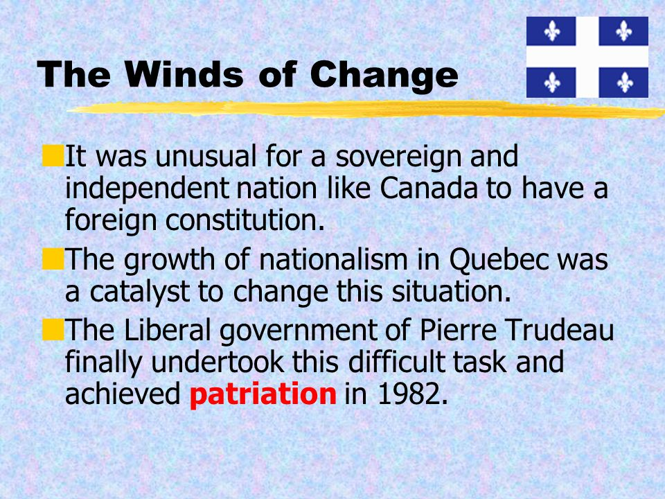 The ever changing constitution of canada