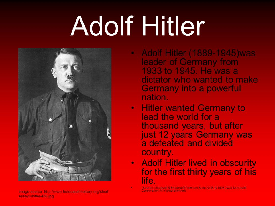 adolf hitler and nazi germany essay (results page 2) view and download adolf hitler essays examples also discover topics, titles, outlines, thesis statements, and conclusions for your adolf hitler essay.