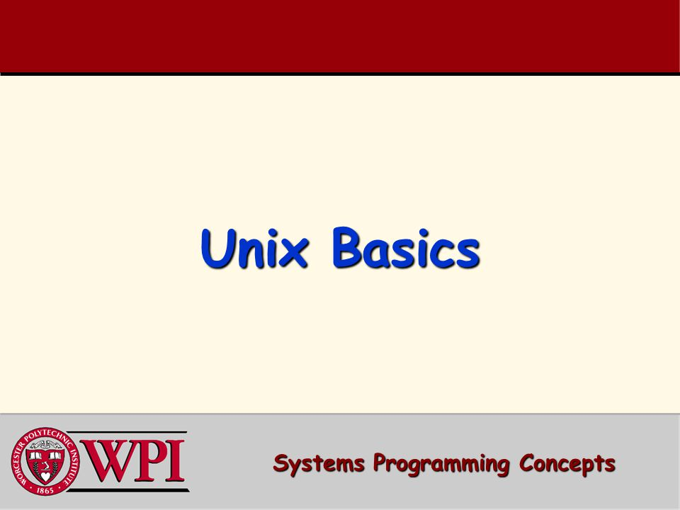 Systems Programming Concepts