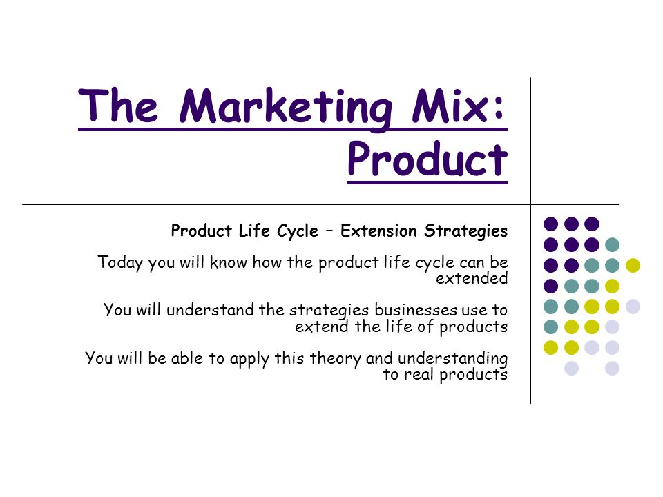 The Marketing Mix Product Ppt Video Online Download