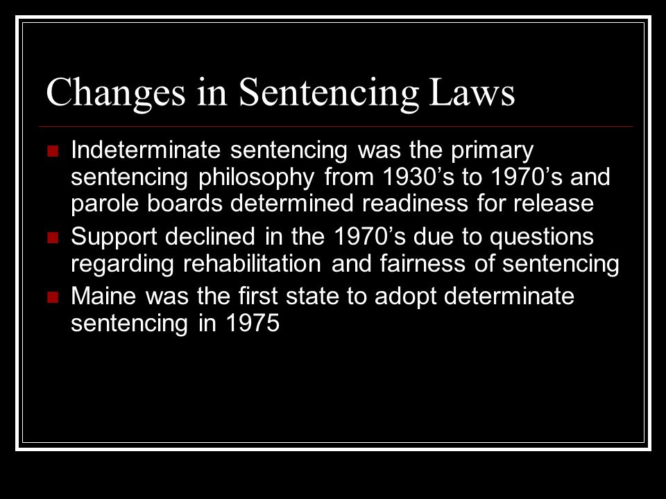 truth in sentencing laws A main cause of this has been years of passing laws without any consideration of the resulting financial costs an egregious example of this is the truth-in-sentencing (tis) law tis requires that nearly all violent offenders.