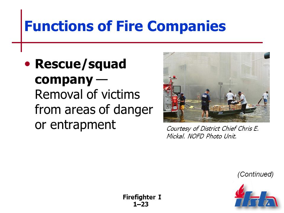 Functions of Fire Companies