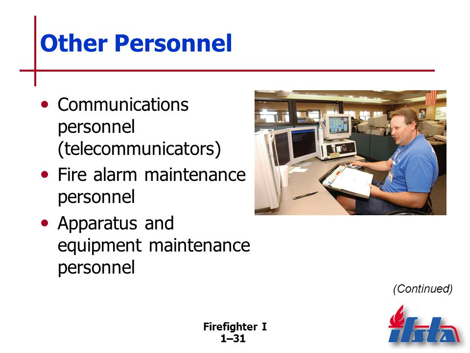 Other Personnel Fire police personnel Information systems personnel