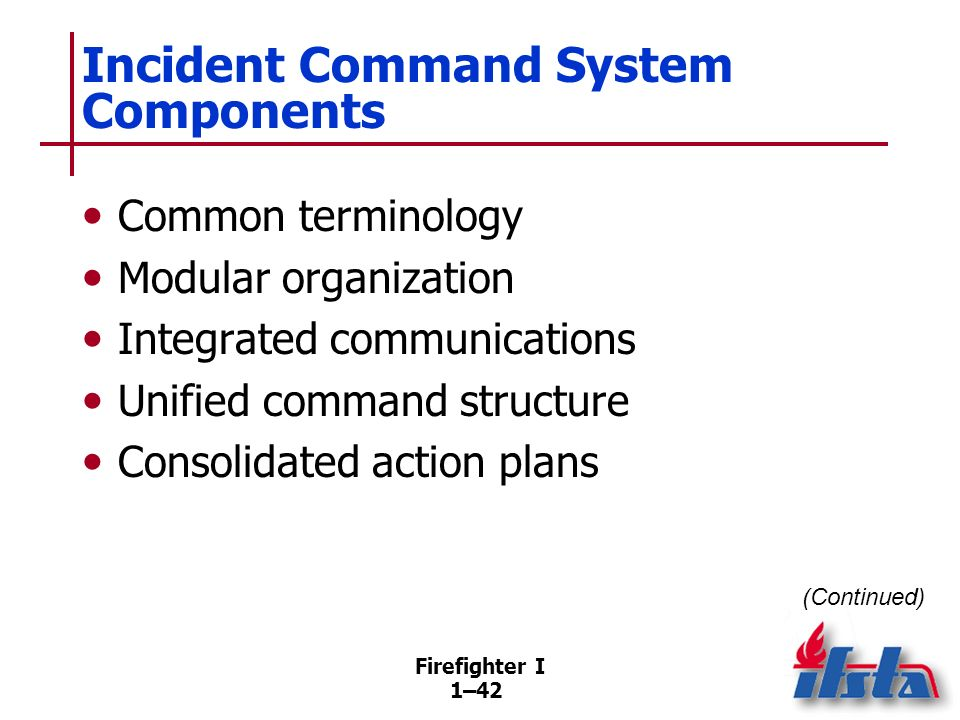 Incident Command System Components