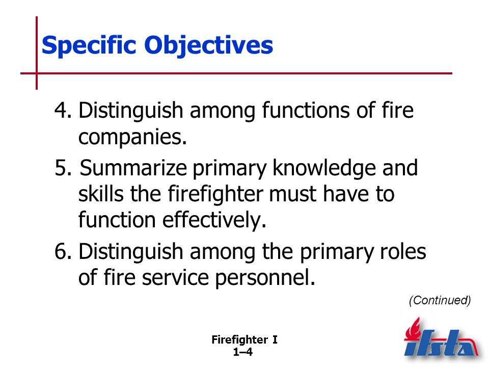 Specific Objectives 7. Distinguish among policies, procedures, and standard operating procedures (SOPs) .