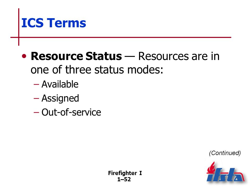 ICS Terms Single Resource — Individual personnel and equipment teams