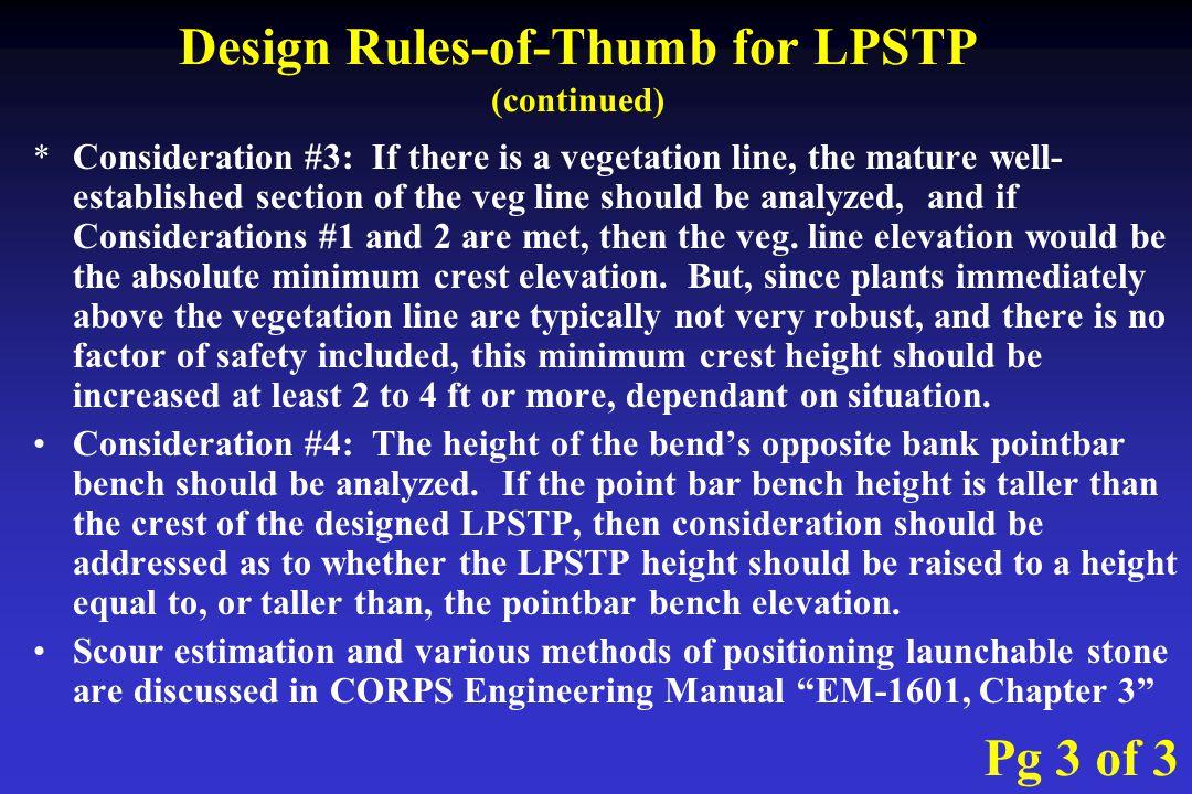 Longitudinal peaked stone toe protection lpstp ppt