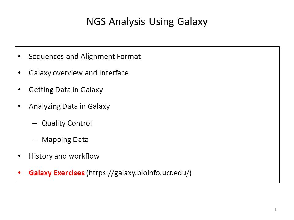 NGS Analysis Using Galaxy