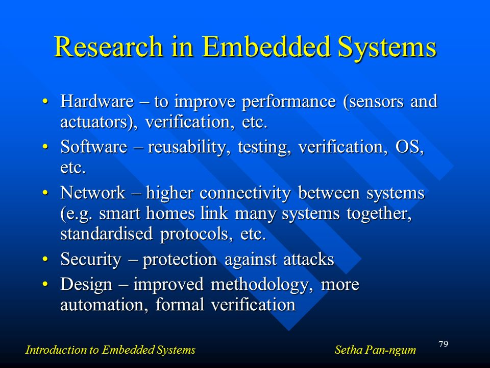research on importance of the embedded systems Knowledge management systems (kms) are applications of the organization's computer-based the improvements are embedded in the organization through routines.