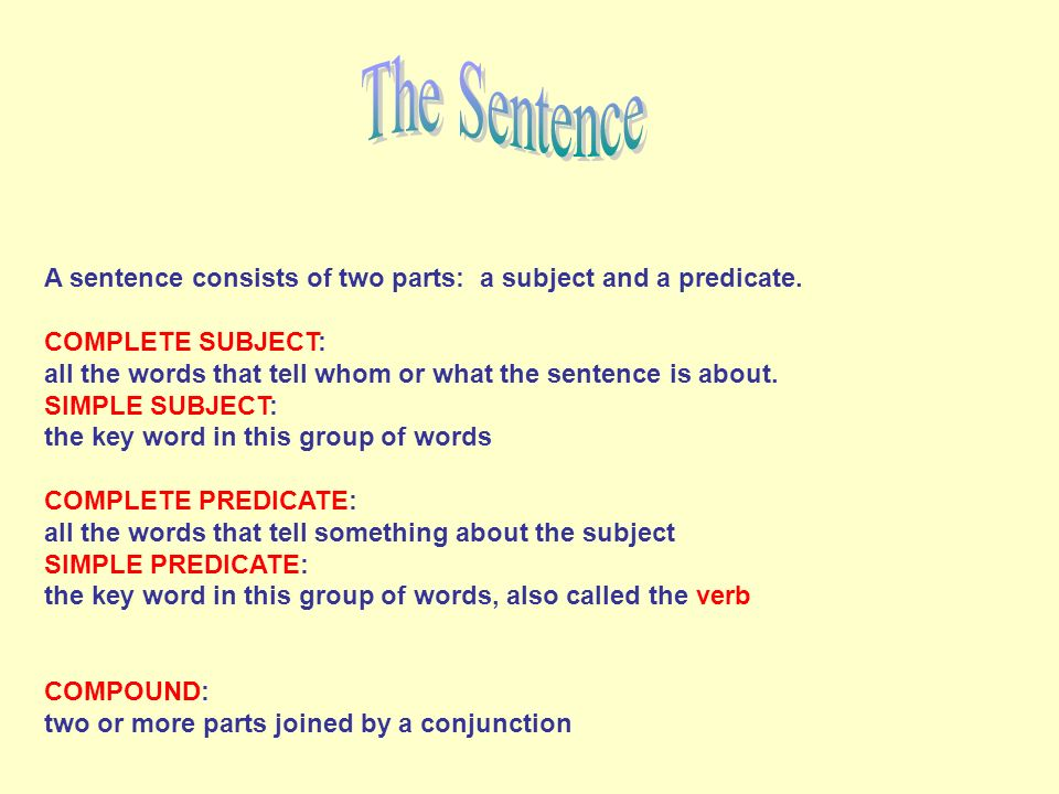 how to find the predicate of a sentence