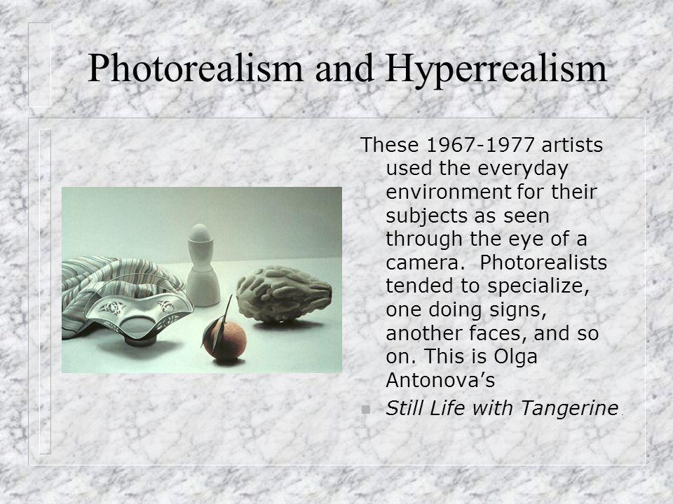 hyperrealismus photorealismus referst