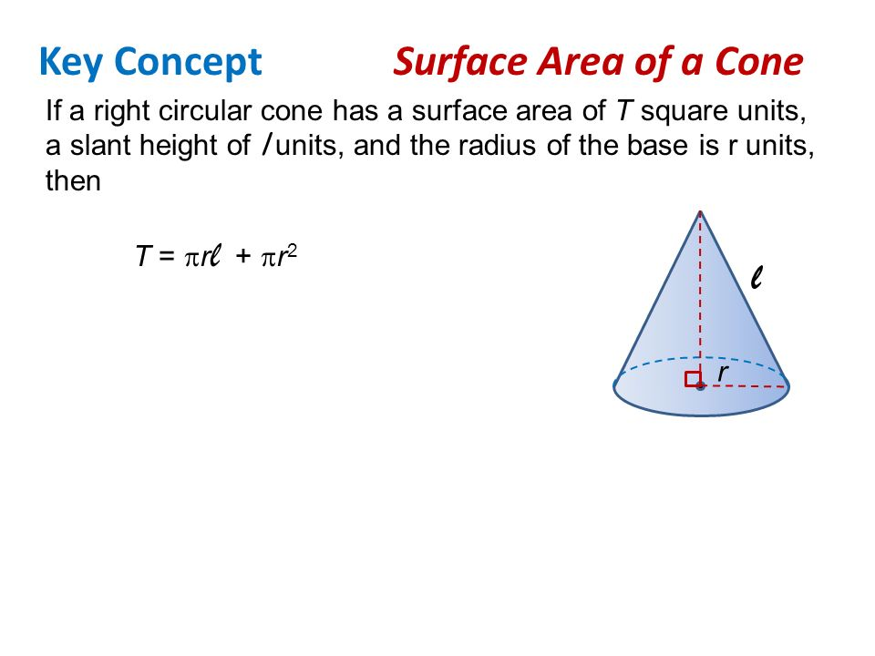 Surface Areas Of Cones Find The Lateral Areas Of Cones