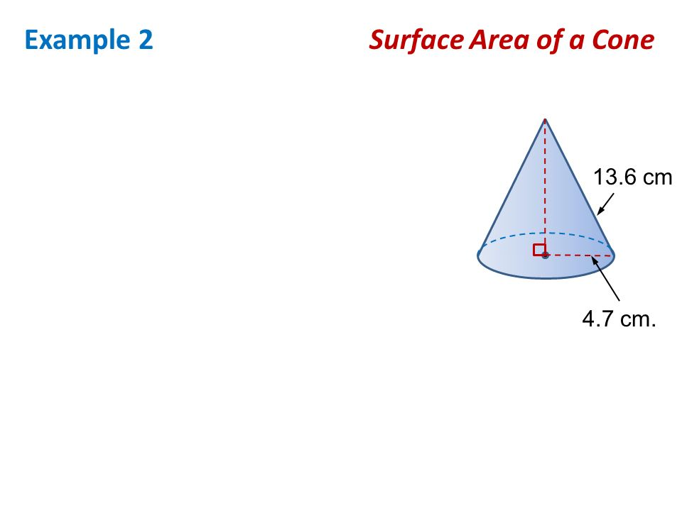 surface area of a cone In this inquiry-based lesson, students will discover the formulas for the surface  area of pyramids and cones this lesson plan was created by exemplary  alabama.