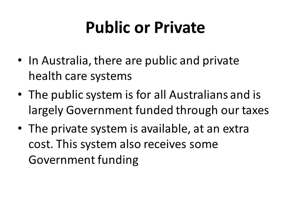 health care system private or public A closer look at the healthcare system in kenya  more than one  third of private facilities are in  former public and private hospitals national.