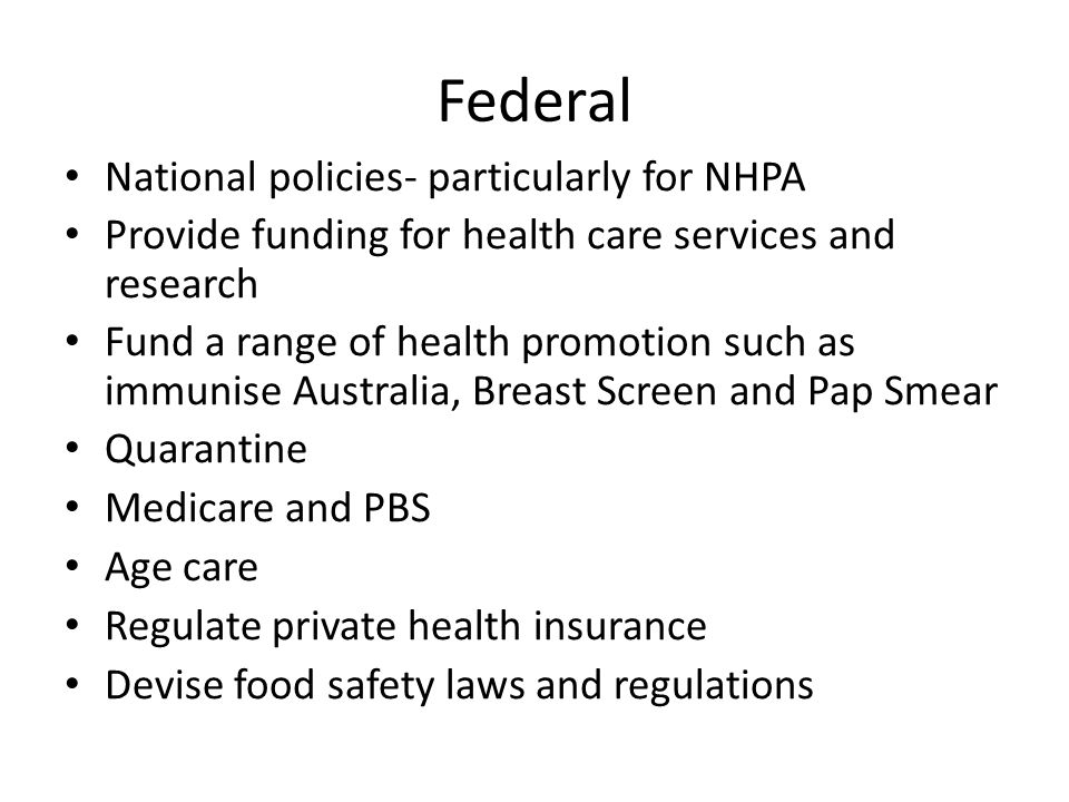 Federal National policies- particularly for NHPA