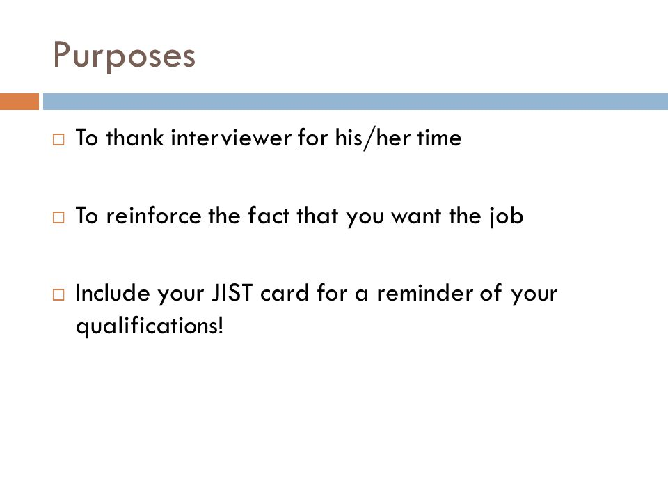 Thank You Letters Post-Interview. - Ppt Download