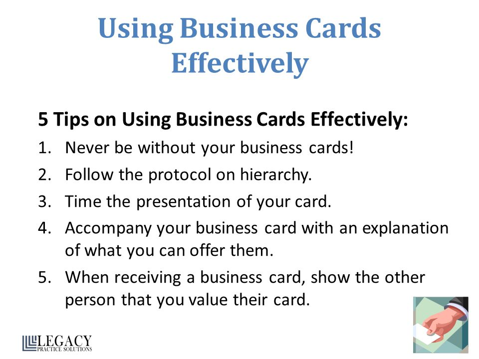 Business etiquette ppt download using business cards effectively colourmoves