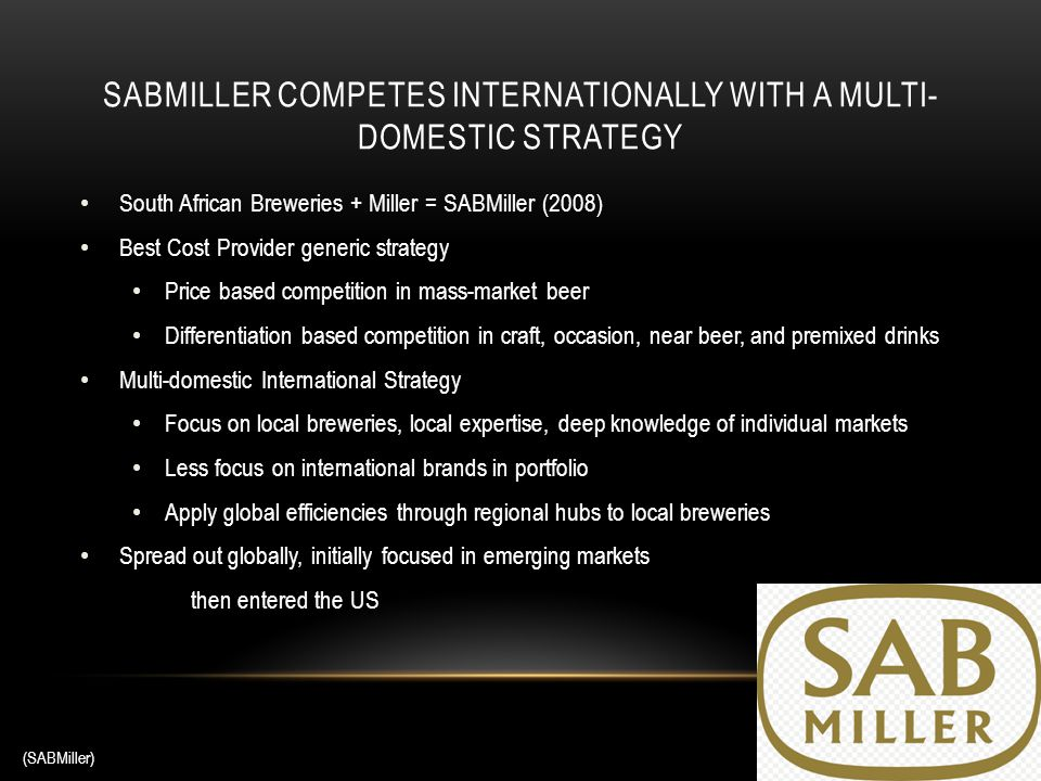 ansoff matrix sabmiller Strategic management case study sabmiller commerce we will write a custom essay sample on strategic management case study sabmiller commerce ansoff matrix.