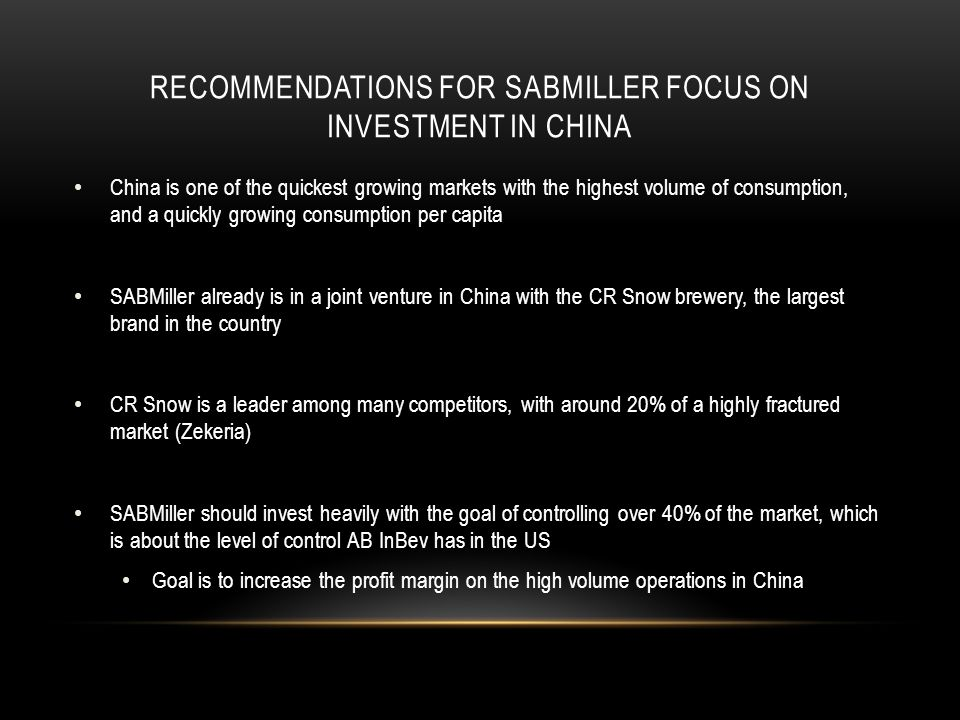 sabmiller in china Beverage giants carlsberg and sabmiller have announced plans to expand further in the chinese beer market.