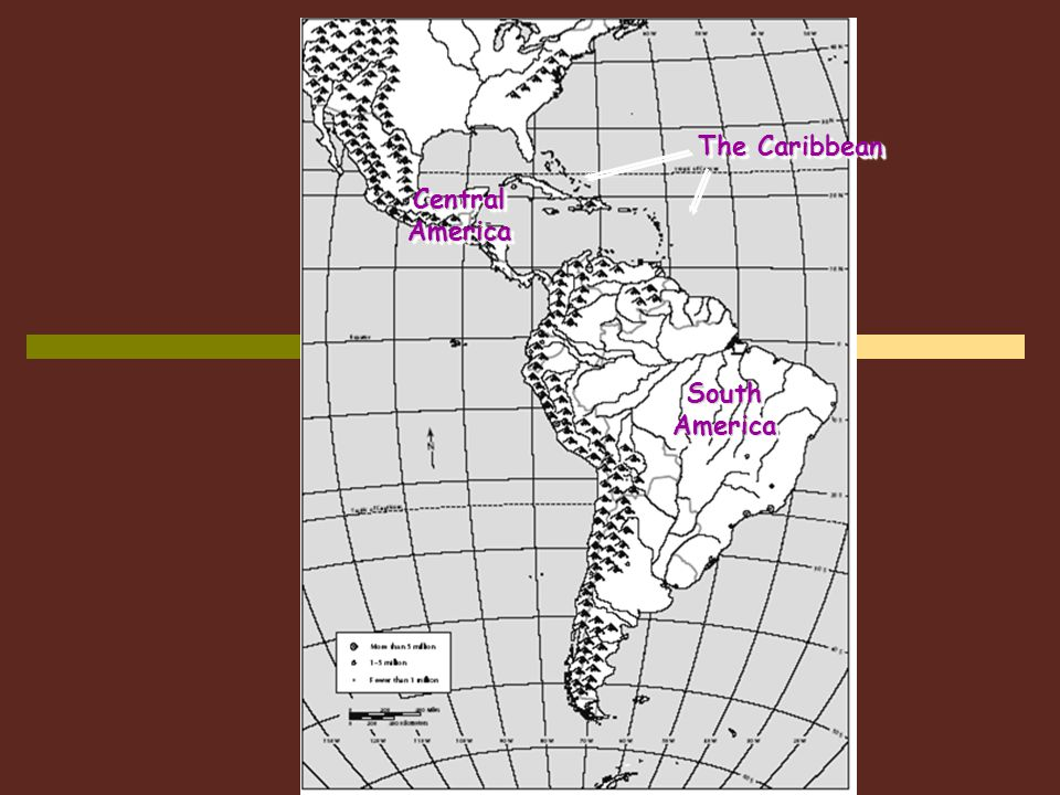 The Caribbean Central America South America