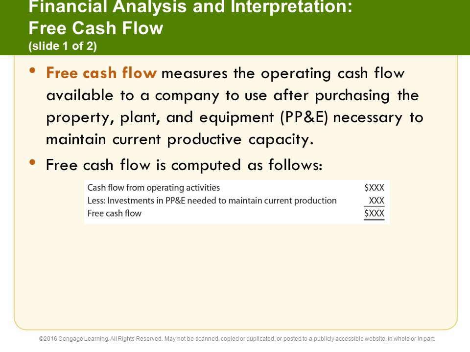 16 Statement of Cash Flows Accounting 26e C H A P T E R Warren ...