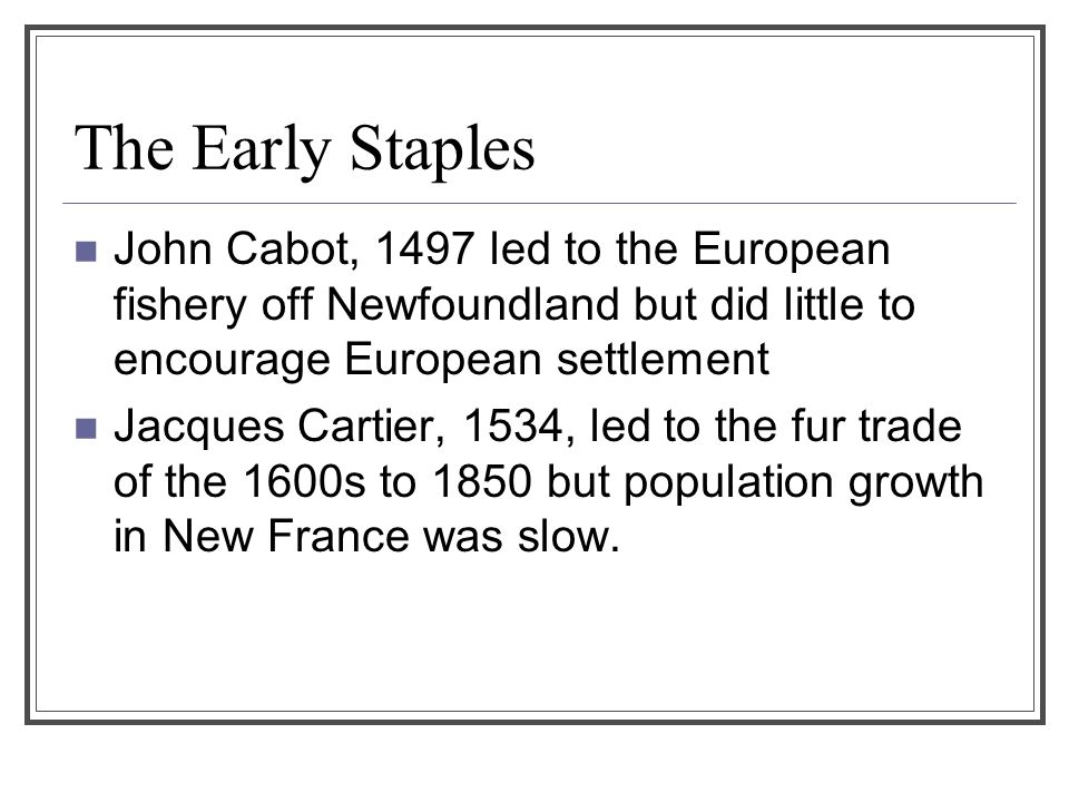 the role of jacques cartier in european immigration to north america France was a colonial power in north america from the early 16th century, the age of european  the life of explorer jacques cartier and his role in .