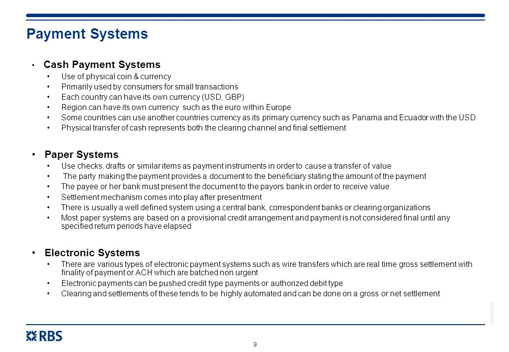 Electronic Payment Schemes