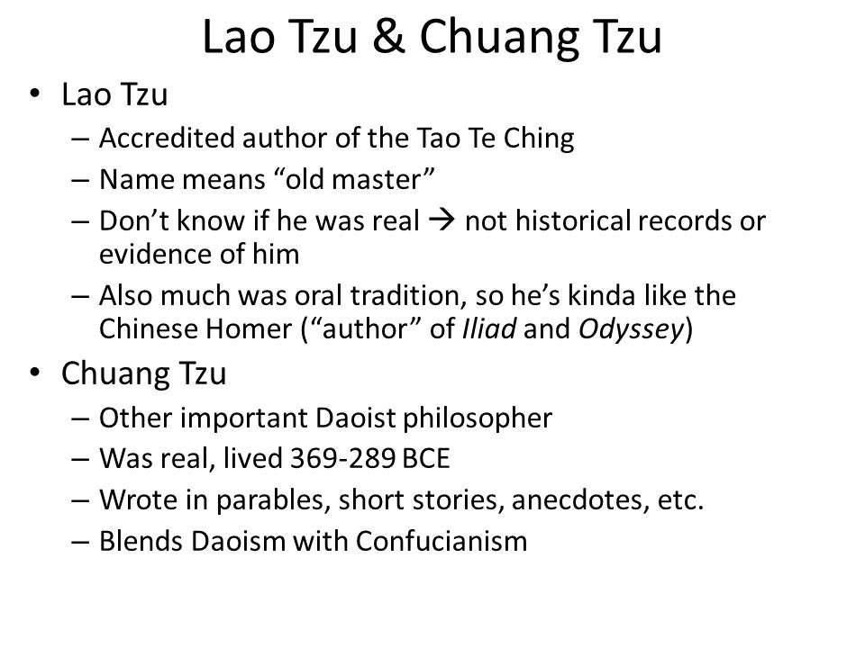 an overview of the philosophies of confucius and chuang tzu Stories of lao tzu, confucius, and chuang tzu,confucius life story stories of lao tzu, confucius some expressions from confucius summary have entered the vocabulary of chinese daily.