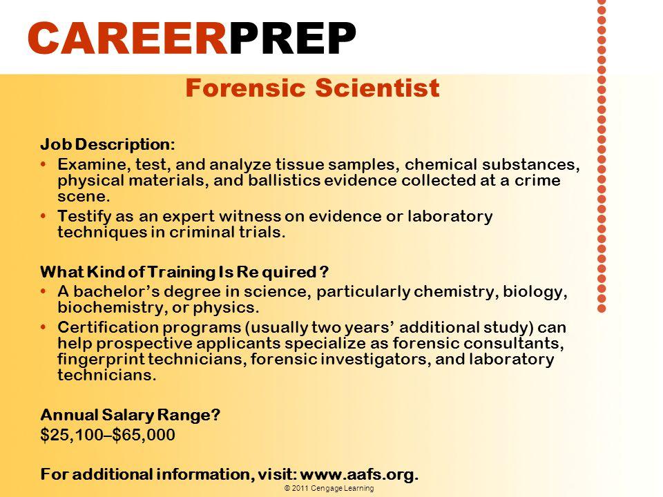 job description chemist