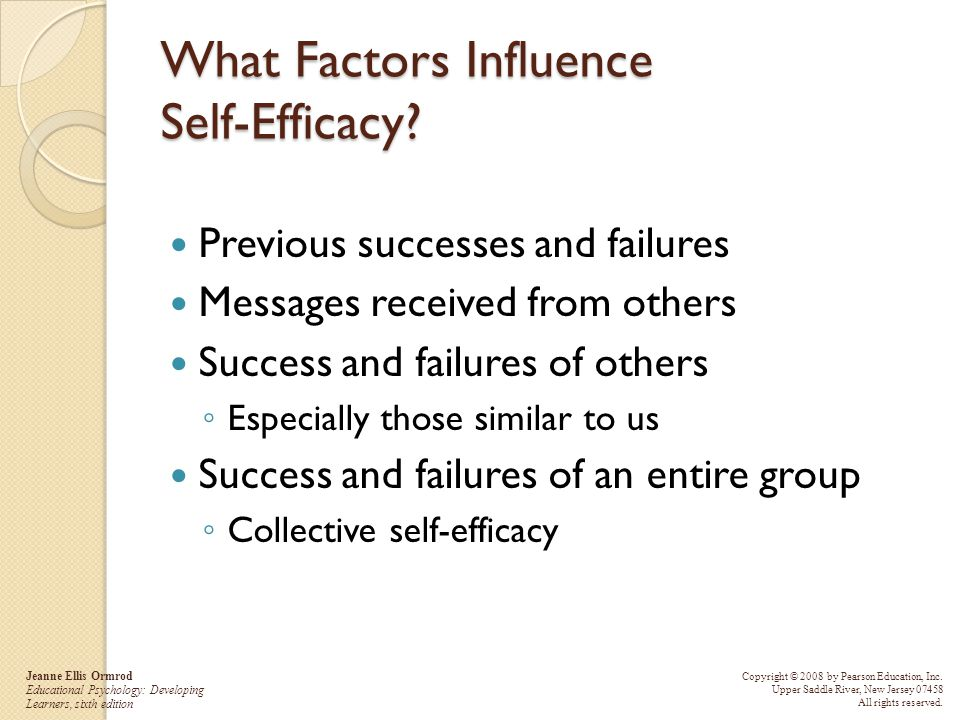 What Factors Influence Self-Efficacy