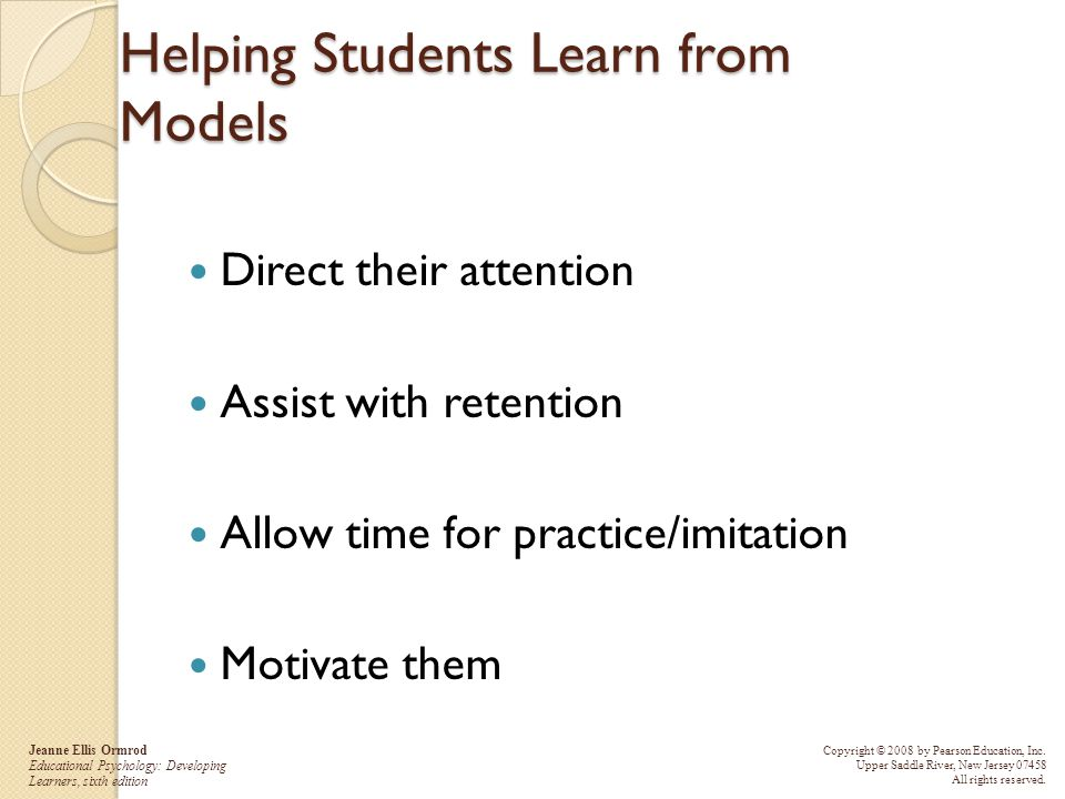 Helping Students Learn from Models
