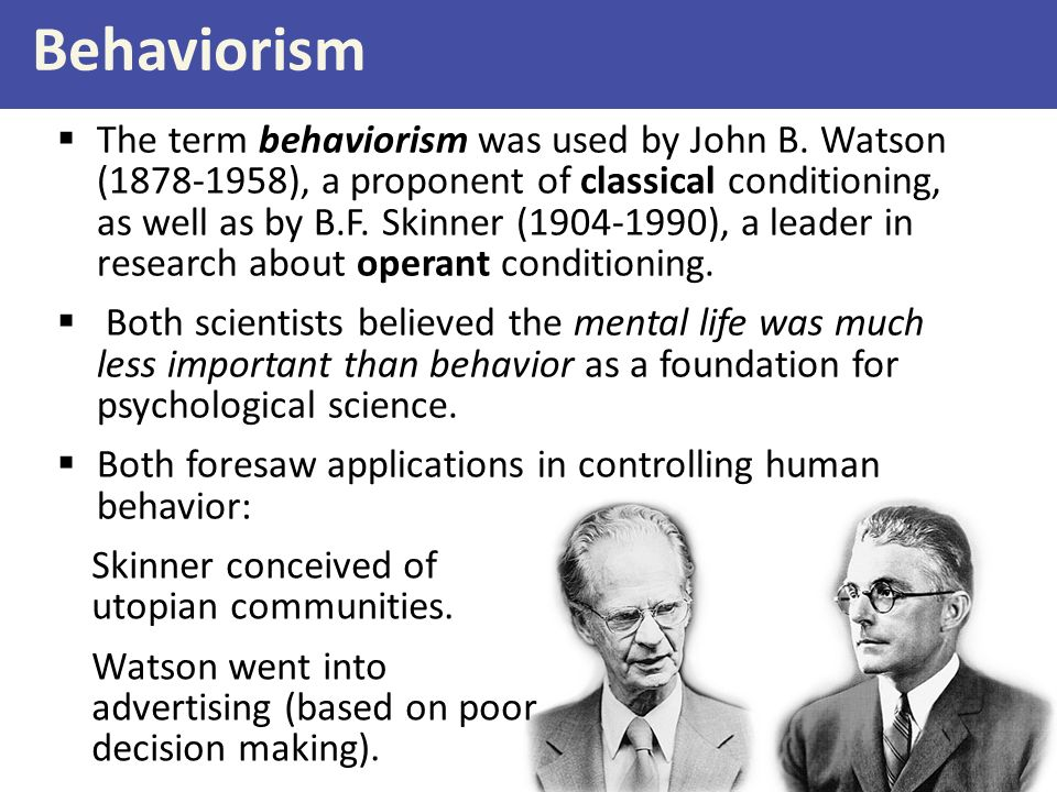 Behavioral Conditioning