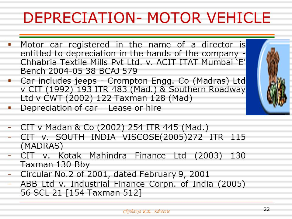 Depreciation Of Motor Vehicles Impremedia Net