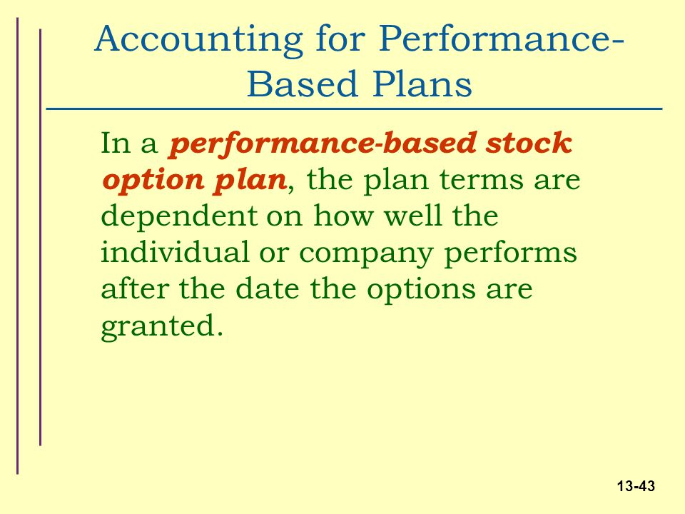 Stock options and company performance