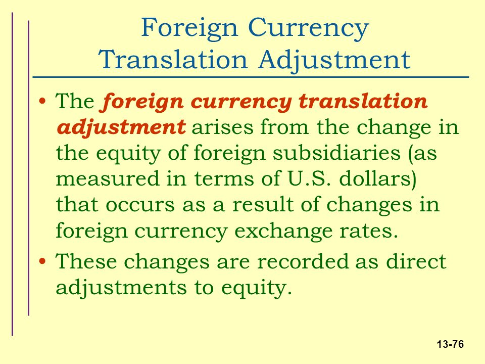 Accounting For Foreign Subsidiaries