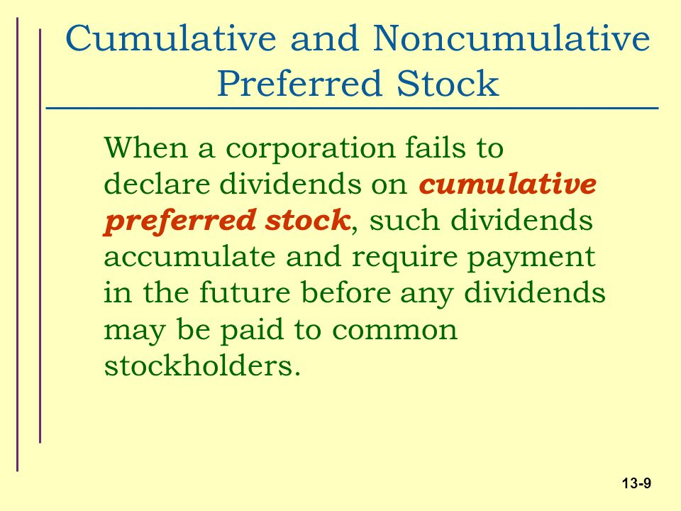 Why Are Non-cumulative Dividends Important?