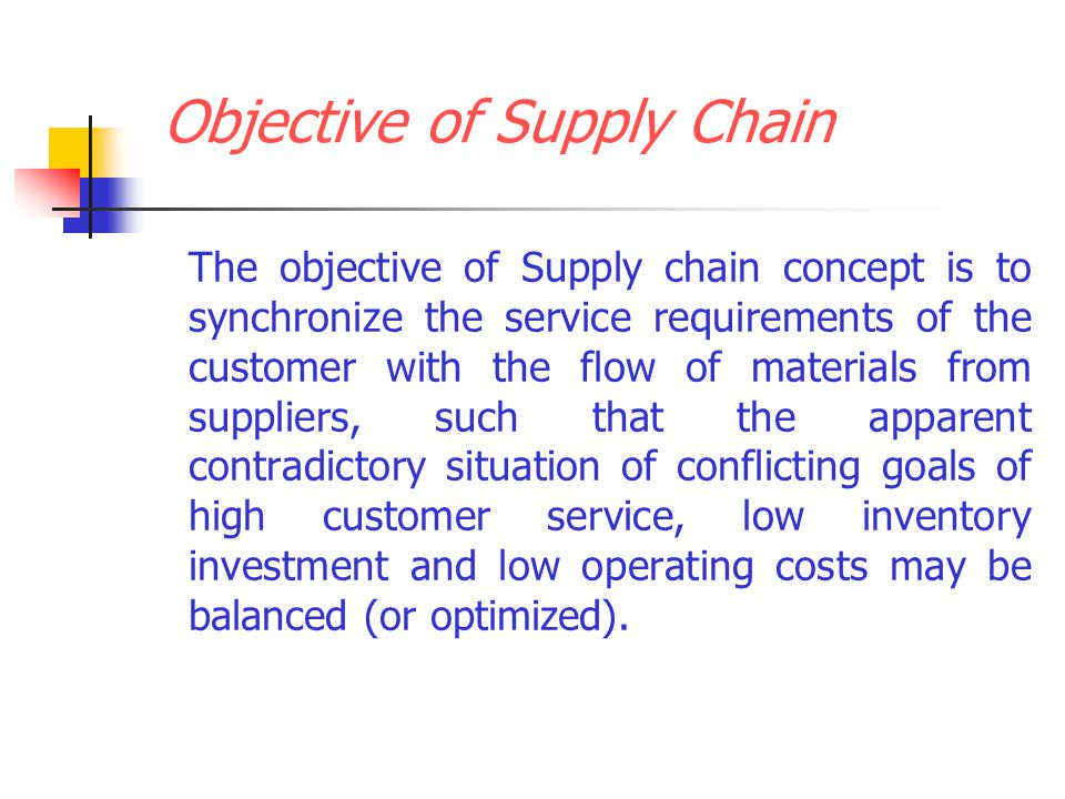 conflicting objectives supply chain Specific supply chain objective supply chain strategy is not simply a linear derivative of the business how was dell successful with such conflicting charters.