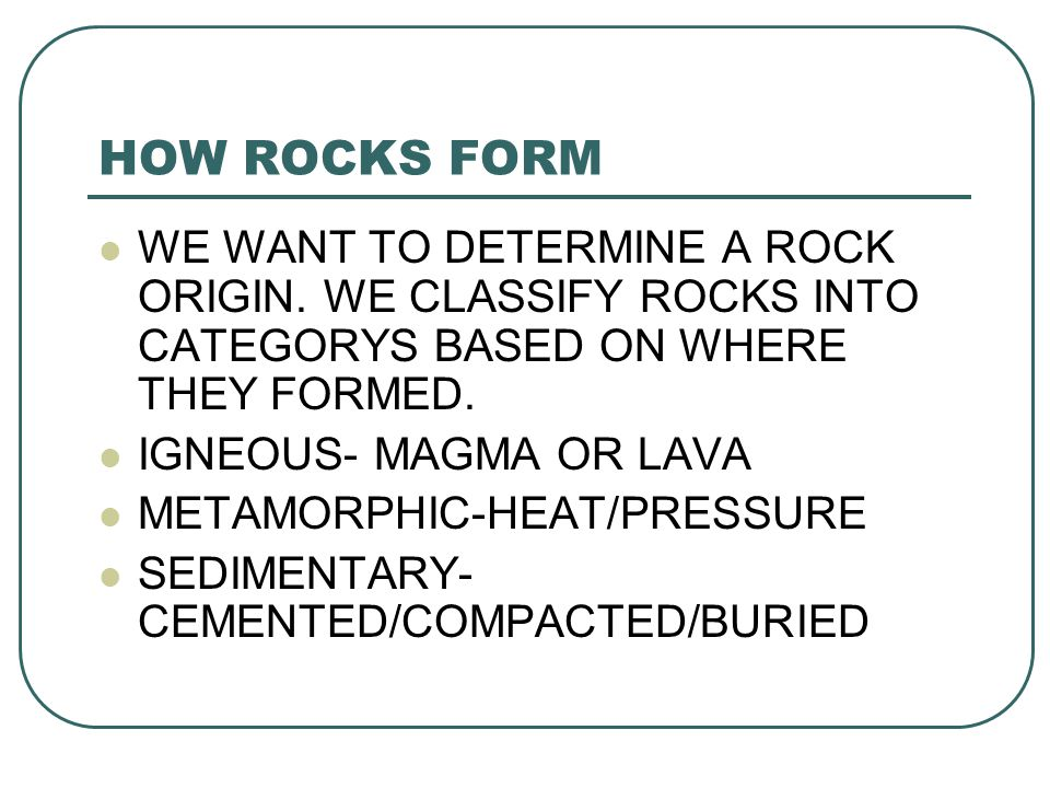 CLASSIFYING ROCKS P ppt video online download