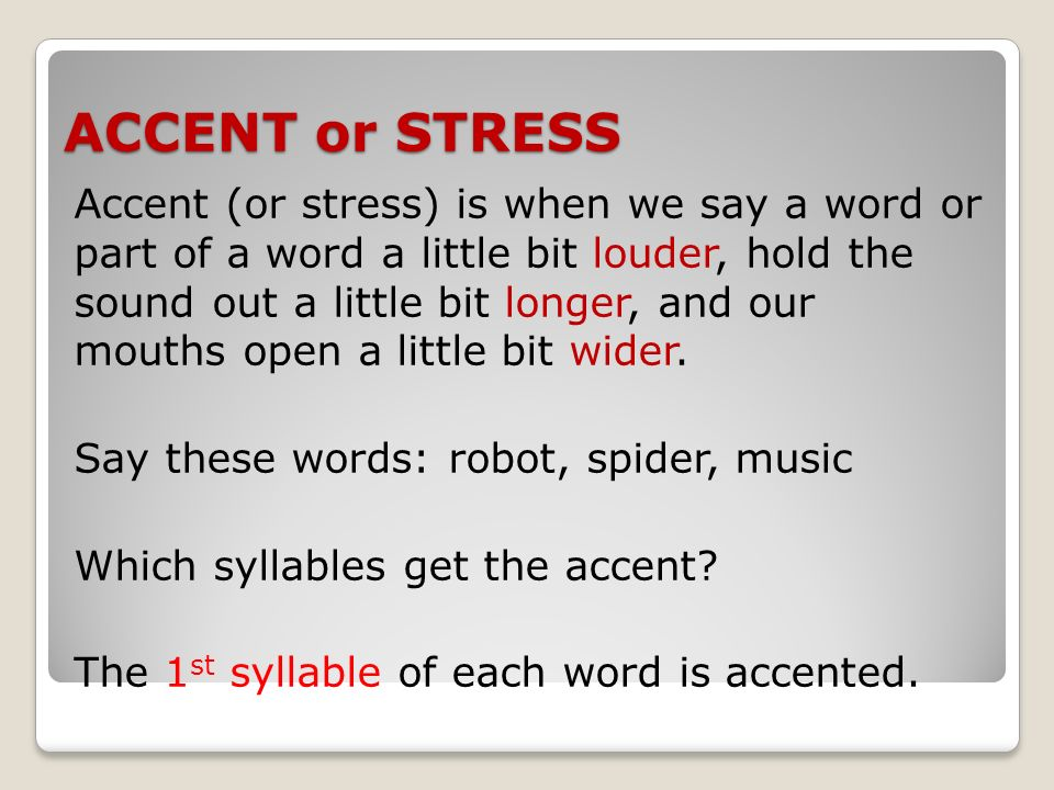english word stress or accent affected The intonation units the pitch accent (time + space) 3 declination  more  scientific ways to understand the intonation of english d intonation units and  break.