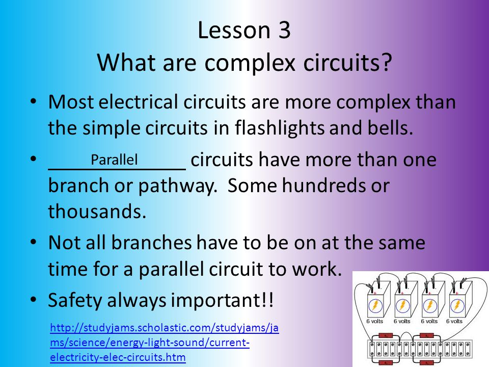 Lesson 3 What are complex circuits