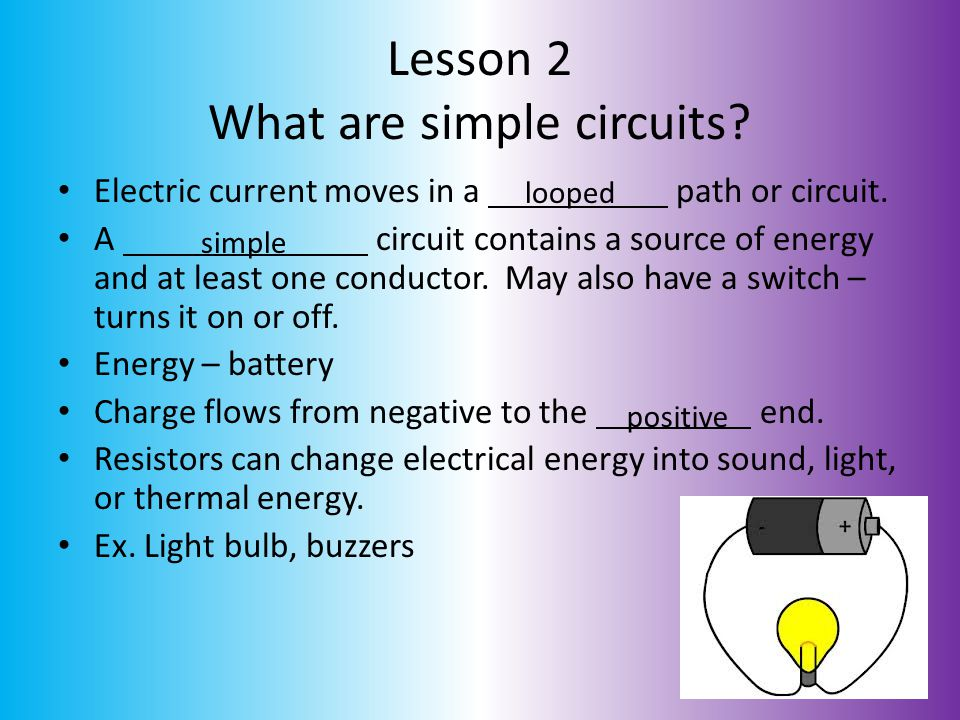 Lesson 2 What are simple circuits