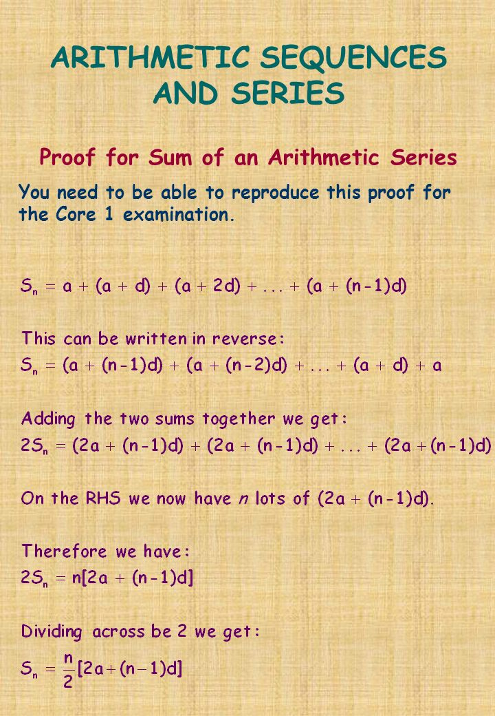 how to find the indicated sum of a arithmetic series
