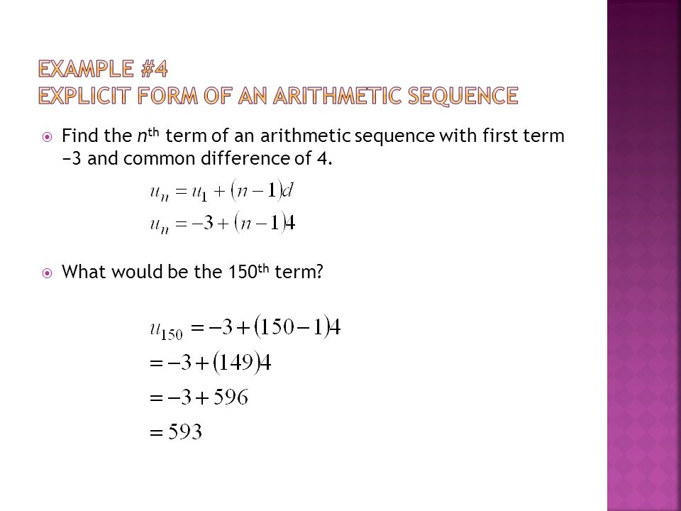 1.3 Arithmetic Sequences Objectives: - Ppt Download