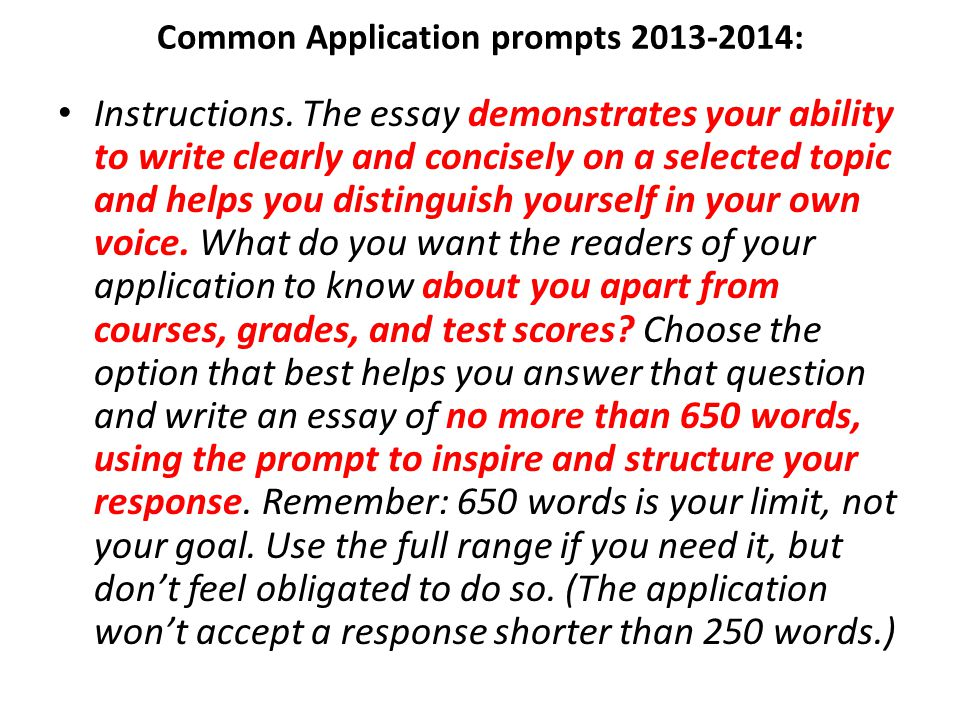 common application essay questions 2014